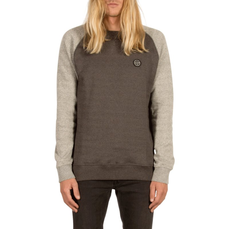 sweat-shirt-gris-homak-grey-volcom
