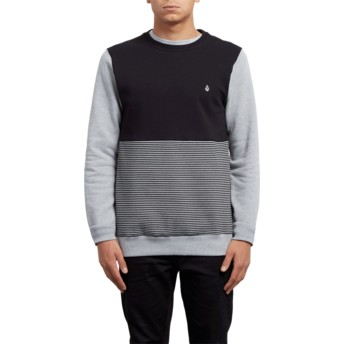Sweat-shirt gris et noir 3ZY Heather Grey Volcom