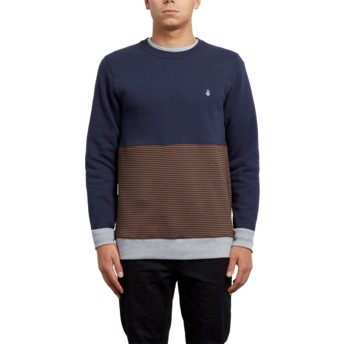 Sweat-shirt marron et bleu marine 3ZY Hazelnut Volcom