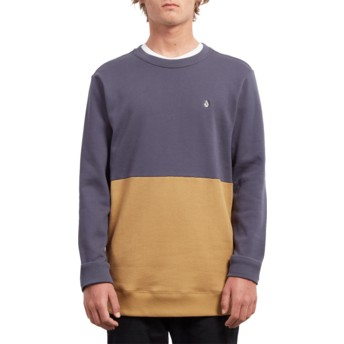 Sweat-shirt bleu marine et jaune Single Stone Division Midnight Blue Volcom