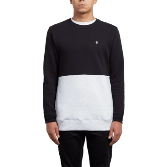 Sweat-shirt noir et blanc Single Stone Division Black Out Volcom