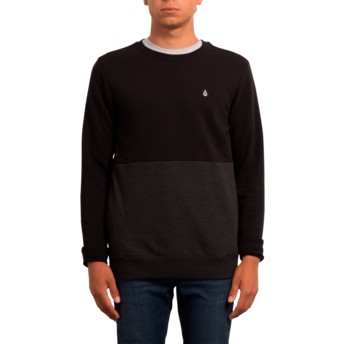 Sweat-shirt noir Single Stone Division Black Volcom