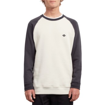 Sweat-shirt blanc et noir Homak Black Volcom