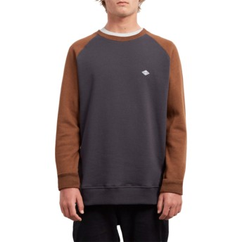 Sweat-shirt noir et marron Homak Hazelnut Volcom