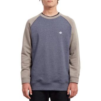 Sweat-shirt bleu et gris Homak Mushroom Volcom