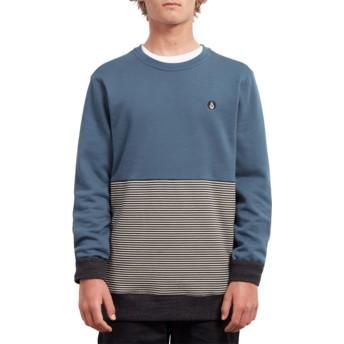 Sweat-shirt bleu Threezy Navy Green Volcom
