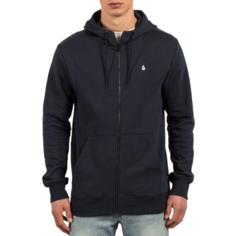 Sweat à capuche et fermeture éclair bleu marine Single Stone Navy Volcom