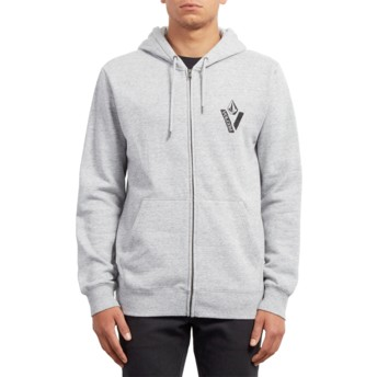 Sweat à capuche et fermeture éclair gris Supply Stone Storm Volcom