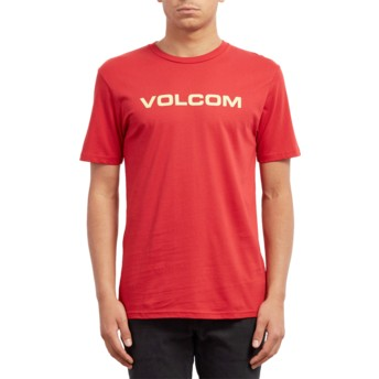 T-shirt à manche courte rouge Crisp Euro Engine Red Volcom