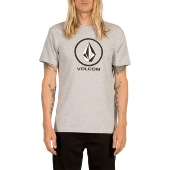 T-shirt à manche courte gris Circle Stone Heather Grey Volcom