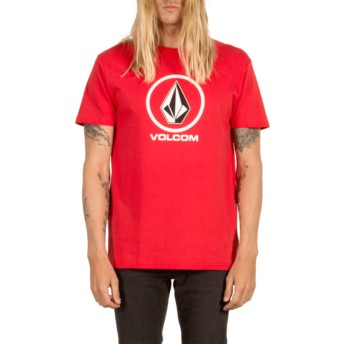 T-shirt à manche courte rouge Circle Stone True Red Volcom