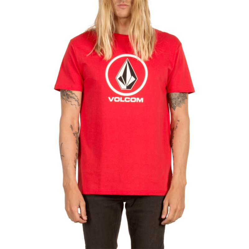 t-shirt-a-manche-courte-rouge-circle-stone-true-red-volcom