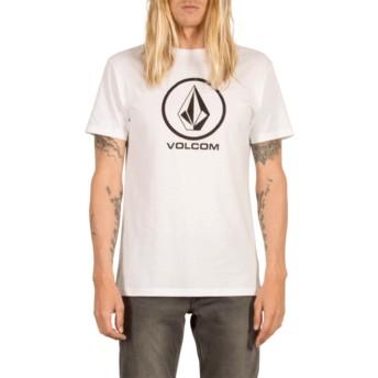 T-shirt à manche courte blanc avec logo noir Circle Stone White Volcom