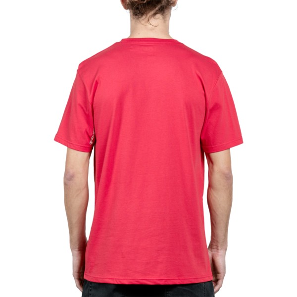 t-shirt-a-manche-courte-rouge-disruption-deep-red-volcom