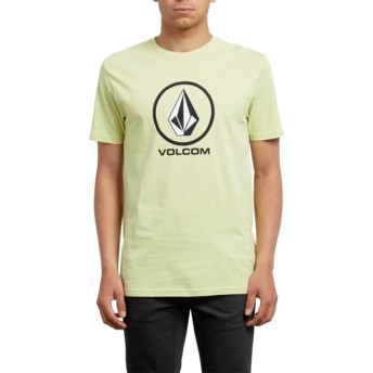 T-shirt à manche courte jaune Crisp Shadow Lime Volcom