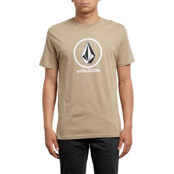T-shirt à manche courte marron Crisp Sand Brown Volcom