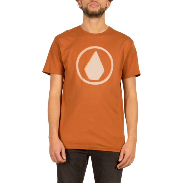 t-shirt-a-manche-courte-marron-burnt-copper-volcom