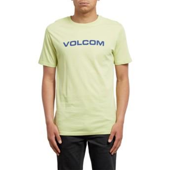T-shirt à manche courte jaune Crisp Euro Shadow Lime Volcom