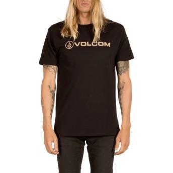 T-shirt à manche courte noir Line Euro Black Volcom