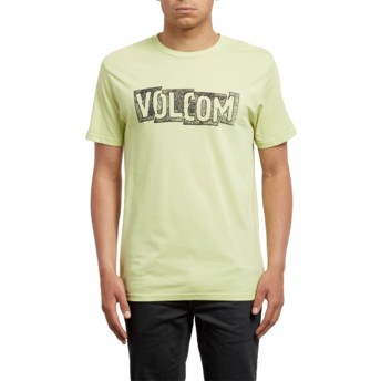 T-shirt à manche courte jaune Edge Shadow Lime Volcom