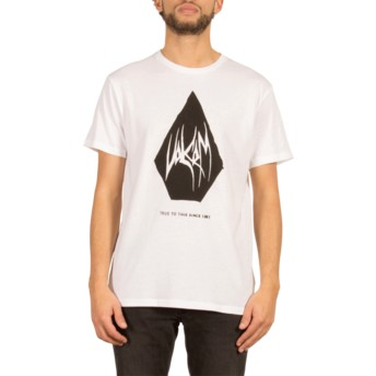 T-shirt à manche courte blanc Carving Block White Volcom