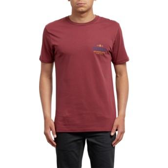T-shirt à manche courte rouge Barred Crimson Volcom