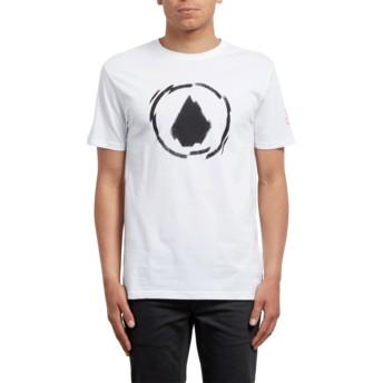 T-shirt à manche courte blanc Shatter White Volcom