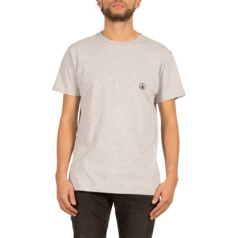 T-shirt à manche courte gris avec le logo du cercle Stone Blank Heather Grey Volcom