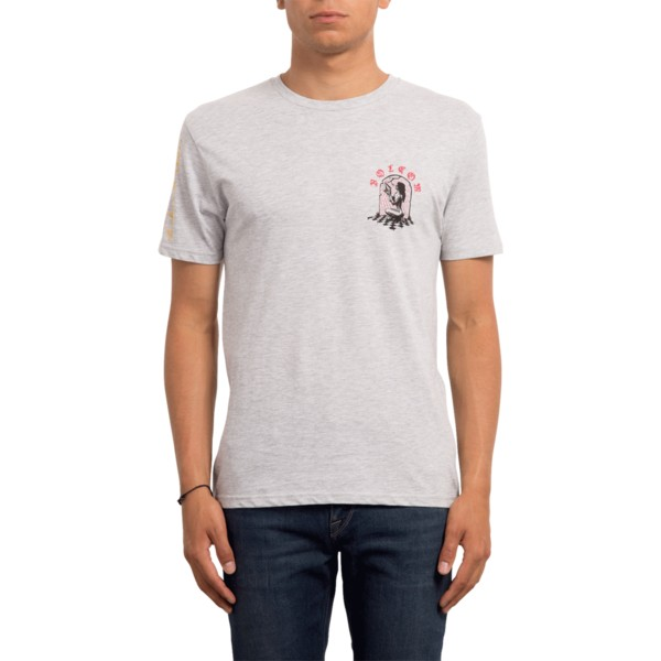 t-shirt-a-manche-courte-gris-stone-lust-heather-grey-volcom