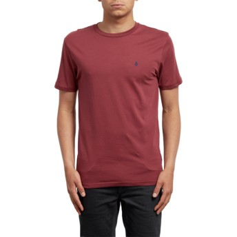 T-shirt à manche courte rouge Stone Blanks Crimson Volcom