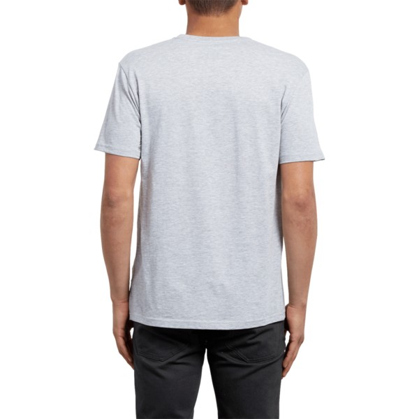 t-shirt-a-manche-courte-gris-stone-blanks-heather-grey-volcom