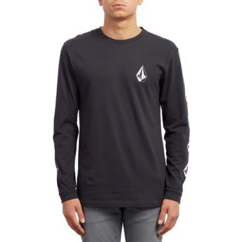 T-shirt à manche longue noir Deadly Stone Black Volcom