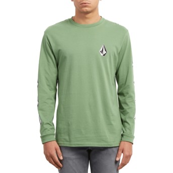 T-shirt à manche longue vert Deadly Stone Dark Kelly Volcom