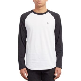 T-shirt à manche longue blanc et noir Pen Black Volcom