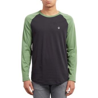 T-shirt à manche longue noir et vert Pen Dark Kelly Volcom