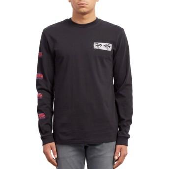 T-shirt à manche longue noir Black Hole Black Volcom