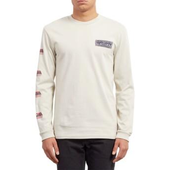 T-shirt à manche longue beige Black Hole Clay Volcom