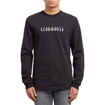 T-shirt à manche longue noir Phase Black Volcom