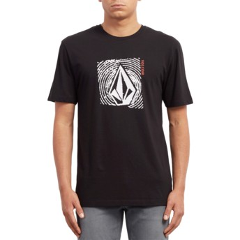 T-shirt à manche courte noir Stonar Waves Black Volcom
