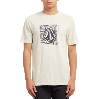 T-shirt à manche courte beige Stonar Waves Clay Volcom