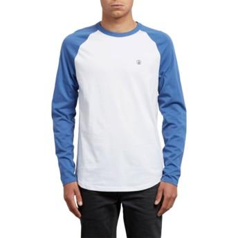 T-shirt à manche longue bleu et blanc Pen Blue Drift Volcom