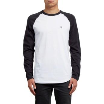 T-shirt à manche longue noir et blanc Pen Black Volcom
