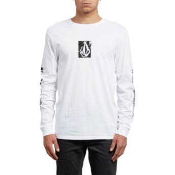 T-shirt à manche longue blanc Pixel Stone White Volcom