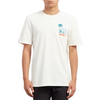T-shirt à manche courte blanc Cryptic Isle Dirty White Volcom