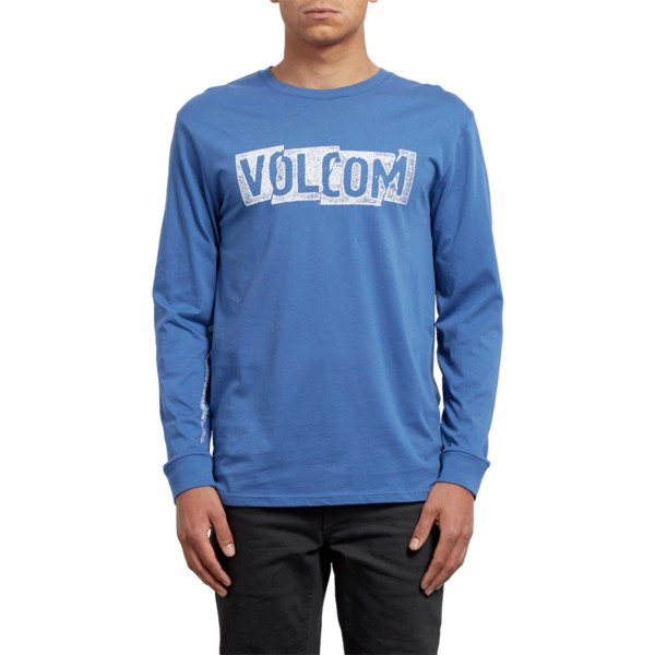 t-shirt-a-manche-longue-bleu-edge-blue-drift-volcom