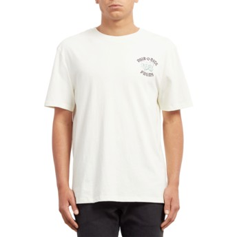 T-shirt à manche courte blanc Pair Of Dice Dirty White Volcom
