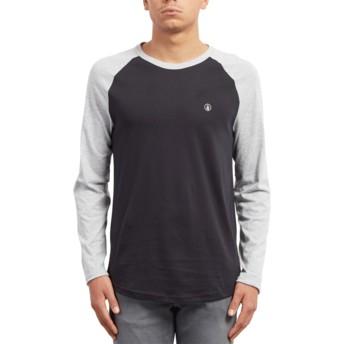 T-shirt à manche longue noir et gris Pen Black Volcom