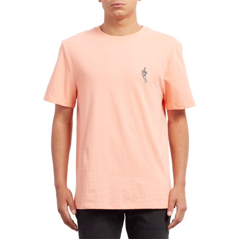 t-shirt-a-manche-courte-orange-finger-orange-glow-volcom
