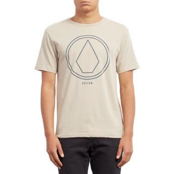 T-shirt à manche courte beige Pinline Stone Oatmeal Volcom