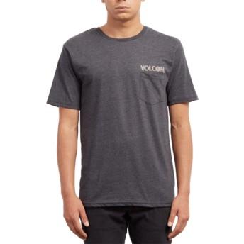 T-shirt à manche courte noir Center Heather Black Volcom